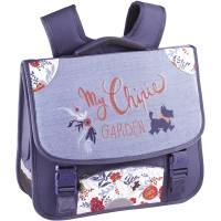 Cartable Chipie Fille 38 cm My Garden 2 Compartiments