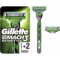 Gillette Mach3 Sensitive Rasoir Pour Homme + 2 Recharges