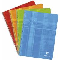 Cahier Clairefontaine Spirale 24x23 cm 100 pages Grands Carreaux