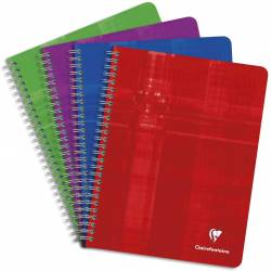 Cahier Clairefontaine Spirales 17x22 cm 180 pages Grands Carreaux