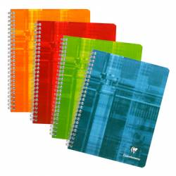 Cahier Clairefontaine Spirales 17x22 cm 120 pages Grands Carreaux