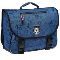 Cartable Garçon Football Bleu 38 cm