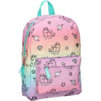 Sac à Dos Maternelle Fille Milky Kiss Rainbows and Unicorns 33 cm