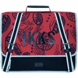Cartable IKKS Garçon 38 cm Urban Rouge