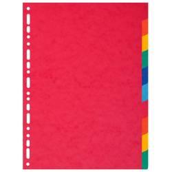 Intercalaires 10 Positions Carte Exacompta A4 Maxi