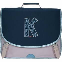 Cartable IKKS 38 cm Boy Kings Bleu Chiné