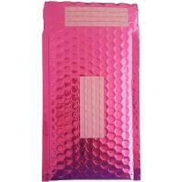 100 Enveloppes Bulles Métalisées PRO- 21 x 12 cm -B/00 - Qualité Premium - Petits Objets (Pink)