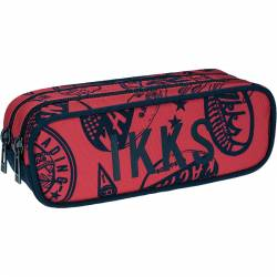 Trousse IKKS 2 compartiments Urban Rally Rouge
