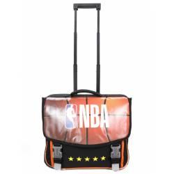 Cartable à Roulettes NBA 41 cm 2 Compartiments Noir