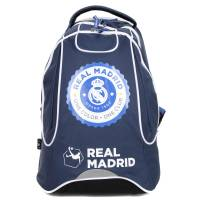 Sac à Dos à Roulettes Real Madrid 47 cm 2 Compartiments Bleu