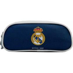 Trousse Real Madrid Double Compartiments Bleu 23 cm