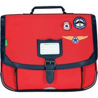 Cartable Tann's Garçon 38 cm TOM Rouge