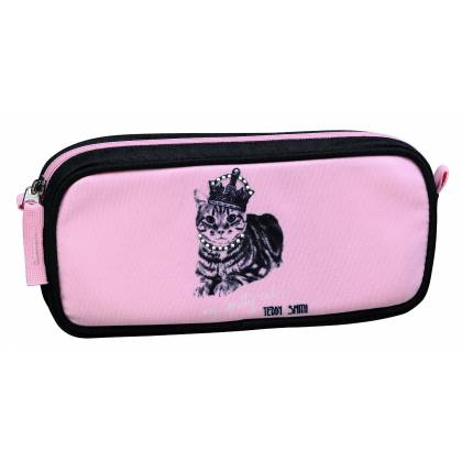 Trousse fourre-tout rectangulaire Teddy Smith - My pretty cat - 22x10x4