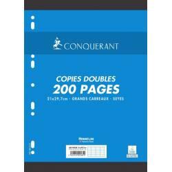 200 Copies Doubles Conquerant Perforées A4 Séyès