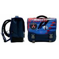 Cartable PSG 38 cm 2 Compartiments Bleu