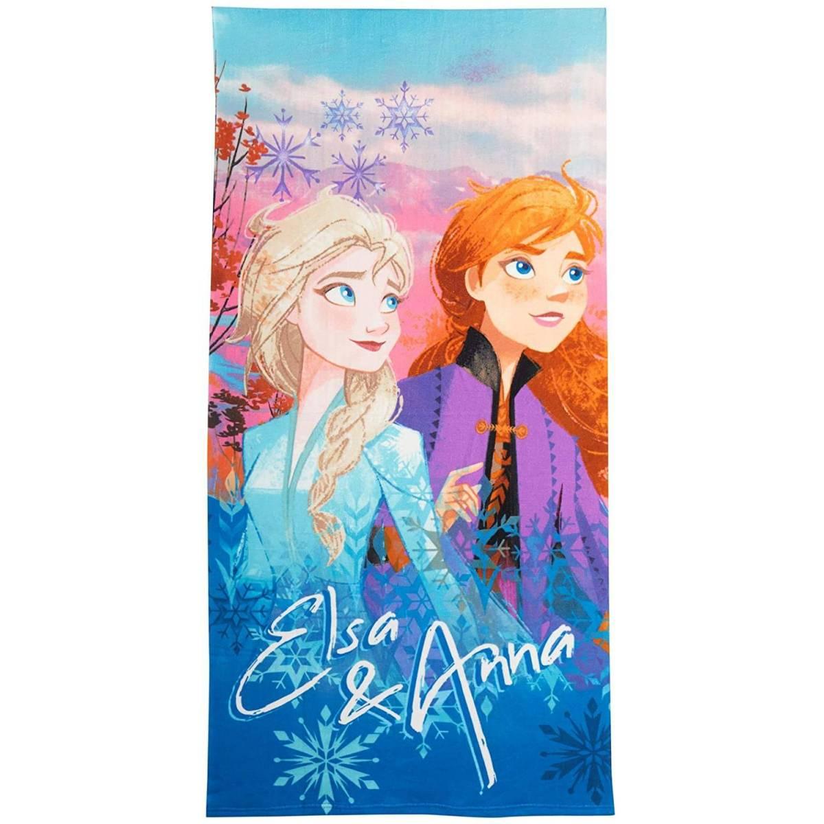 Serviette de Plage La Reine des Neiges 2 Elsa et Anna 175 x 125 cm