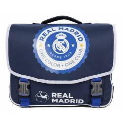 Cartable Real Madrid 41 cm 2 Compartiments Bleu