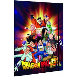 Dragon Ball Super Lot de 2 Chemises 3 rabats à élastique A4