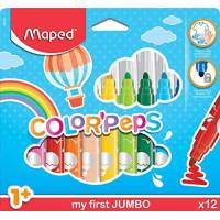 12 Feutres Jumbo Maped Color'peps Premier Age