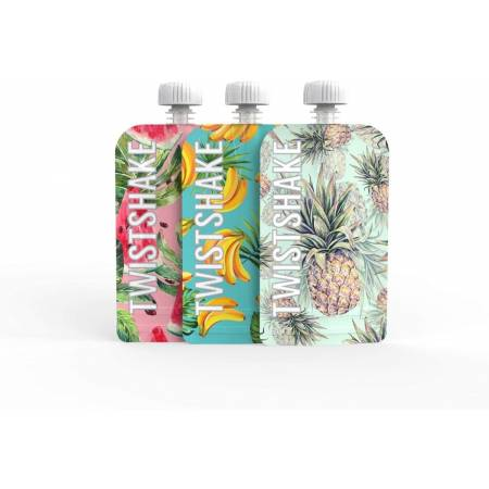 Twistshake Squeeze Bag - 3 x 100 ml