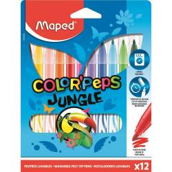 12 Feutres Maped Jungle Color'Peps