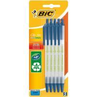 Lot de 5 Stylo BIC Bille Rétractable Clic Stic Bleu