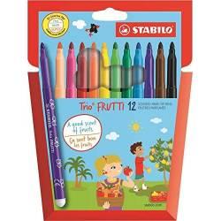 12 Feutres Stabilo Trio Frutti