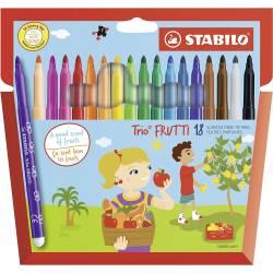 18 Feutres Stabilo Trio Frutti Parfumé