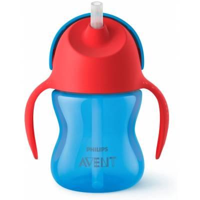 Philips Avent - Tasse à Paille Courbée - Rouge et Bleu - 9 mois + - SCF796/01