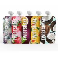 Twistshake Squeeze Bag Fruit - 5x Gourdes Réutilisables 220 ml Parfait pour Compotes et Purées