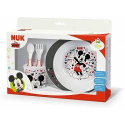 NUK Set Vaisselle Bébé Disney Mickey 4 piéces