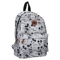 Sac à Dos Mickey Mouse Gris Never Out Of Style Large 35 cm