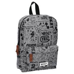 Sac à Dos Mickey Mouse Gris Repeat After Me 34 cm