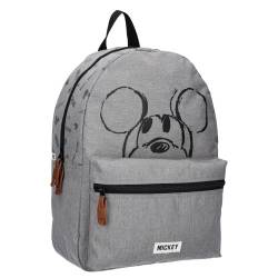 Sac à Dos Mickey Mouse Gris Repeat After Me 39 cm