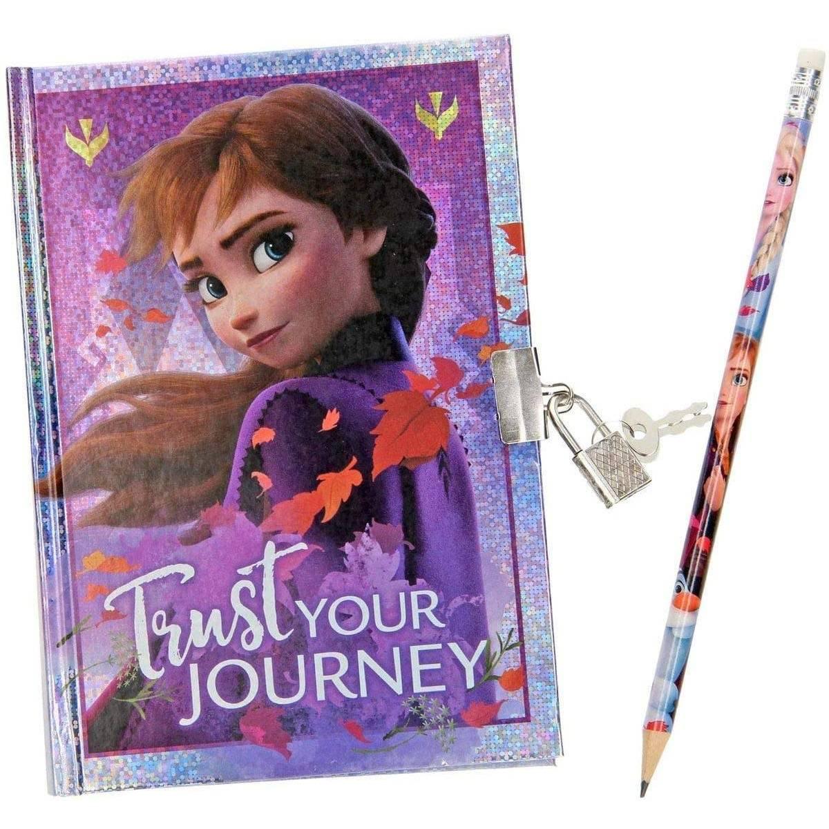 Carnet Secret Reine des Neiges 2 avec Crayon
