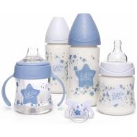 Coffret Biberons Suavinex My Essentials Etoile Bleu