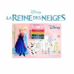 Book of 24 Frozen Coloring Pages + 8 Colored Pencils