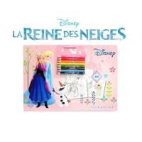 Carnet de 24 Coloriages La Reine des Neiges + 8 Crayons de Couleurs