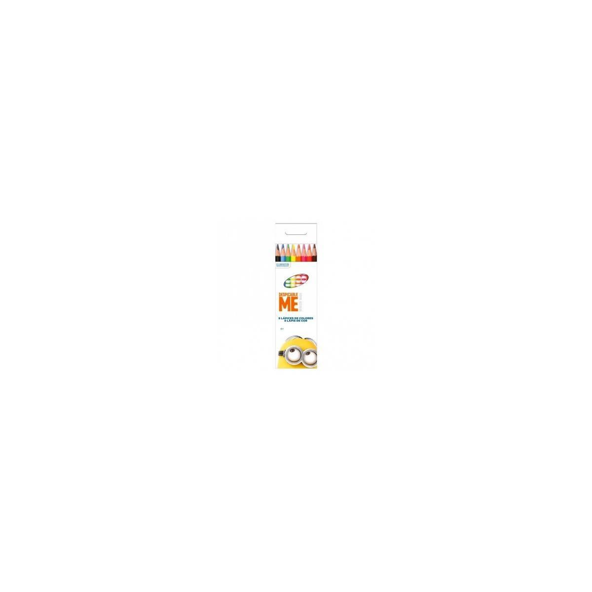 Set Minions 8 crayons de couleur