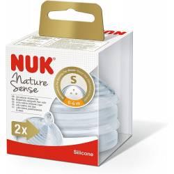 2 Tétines NUK Nature Sense Taille S 0-6 mois