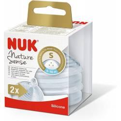 2 Tétines NUK Nature Sense Taille S 6-18 mois