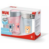 Tasse NUK Magic Cup Antifuites 360° Koala et Ours Rose