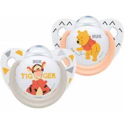2 NUK Winnie the Pooh Trendline Schnuller 6-18 Monate
