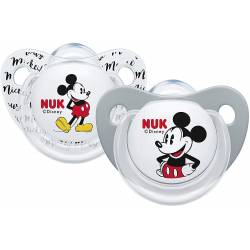 2 NUK Mickey Mouse Trendline Pacifiers 6-18 months
