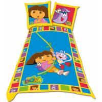 Parure housse de couette Dora l'exploratrice 140 x 200 cm + 1 taie