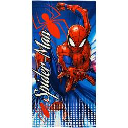 Serviette de Plage Spiderman Bleu 140 x 70 cm