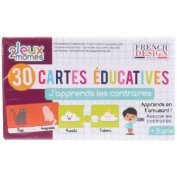 30 Cartes Educatives J'apprends les Contraires