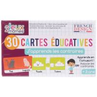 30 Cartes Educatives J'apprends les Contraires