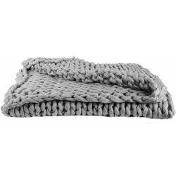 Plaid Grosses Mailles Chunky Gris 120 x 150 cm - The Home Deco
