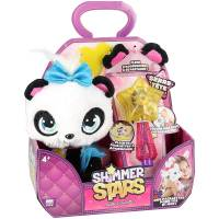Shimmer Stars Personalised Panda Plush Toy with Glitter
